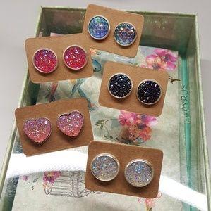 Jewelry - All druzy earrings 2 for $10 💖